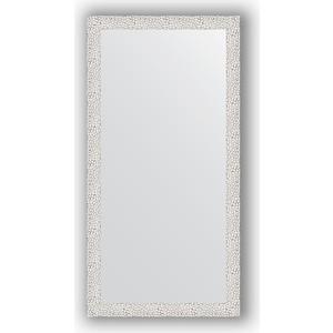 Зеркало в багетной раме поворотное Evoform Definite 51x101 см, чеканка белая 46 мм (BY 3066) зеркало в багетной раме поворотное evoform definite 71x151 см мозаика хром 46 мм by 3324