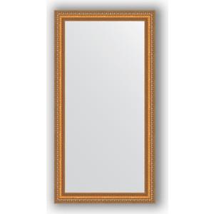 Фотография товара зеркало в багетной раме Evoform Definite 55x105 см, золотые бусы на бронзе 60 мм (BY 3074) (571817)