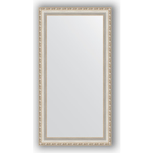 Зеркало в багетной раме поворотное Evoform Definite 55x105 см, версаль серебро 64 мм (BY 3078) зеркало в багетной раме поворотное evoform definite 54x144 см травленое серебро 59 мм by 0718
