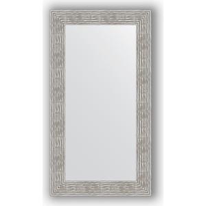 Зеркало в багетной раме поворотное Evoform Definite 60x110 см, волна хром 90 мм (BY 3089) зеркало в багетной раме поворотное evoform definite 71x151 см мозаика хром 46 мм by 3324