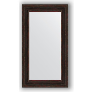 Зеркало в багетной раме поворотное Evoform Definite 62x112 см, темный прованс 99 мм (BY 3094) зеркало в багетной раме поворотное evoform definite 56x76 см серебряный дождь 70 мм by 3048