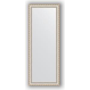 Зеркало в багетной раме поворотное Evoform Definite 55x145 см, версаль серебро 64 мм (BY 3110) зеркало в багетной раме evoform definite 75x75 см версаль кракелюр 64 мм by 3237