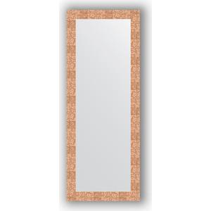 Зеркало в багетной раме поворотное Evoform Definite 56x146 см, соты медь 70 мм (BY 3114) зеркало в багетной раме поворотное evoform definite 54x144 см травленое серебро 59 мм by 0718