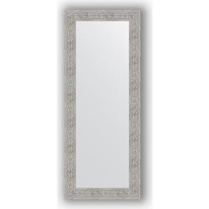 Зеркало в багетной раме поворотное Evoform Definite 60x150 см, волна хром 90 мм (BY 3121) зеркало в багетной раме поворотное evoform definite 71x151 см мозаика хром 46 мм by 3324