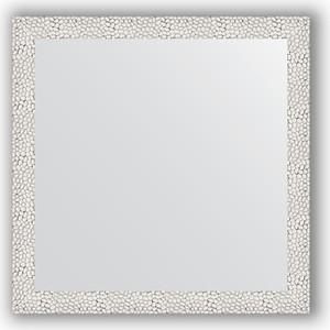 Зеркало в багетной раме Evoform Definite 61x61 см, чеканка белая 46 мм (BY 3130) зеркало в багетной раме поворотное evoform definite 71x151 см чеканка белая 46 мм by 3322