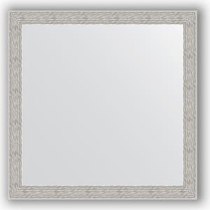 Зеркало в багетной раме Evoform Definite 61x61 см, волна алюминий 46 мм (BY 3134) декор tagina woodays bordo versailles faggio rosato 61x61