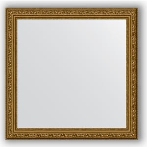 Зеркало в багетной раме Evoform Definite 64x64 см, виньетка состаренное золото 56 мм (BY 3135) зеркало evoform by 3195