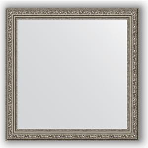 Зеркало в багетной раме Evoform Definite 64x64 см, виньетка состаренное серебро 56 мм (BY 3136)