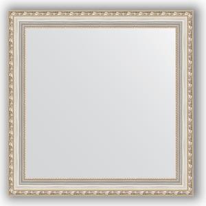 Зеркало в багетной раме Evoform Definite 65x65 см, версаль серебро 64 мм (BY 3142) evoform definite 55x145 см версаль серебро 64 мм by 3110