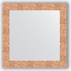 Зеркало в багетной раме Evoform Definite 66x66 см, соты медь 70 мм (BY 3146) зеркало в багетной раме evoform definite 66x66 см сталь 20 мм by 1019