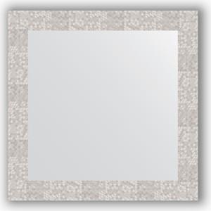 Зеркало в багетной раме Evoform Definite 66x66 см, соты алюминий 70 мм (BY 3147) зеркало в багетной раме evoform definite 66x66 см сталь 20 мм by 1019