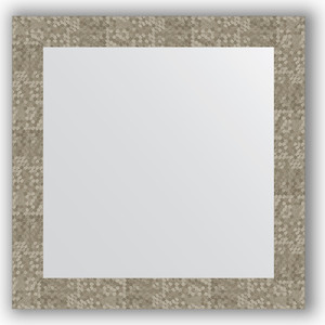 Зеркало в багетной раме Evoform Definite 66x66 см, соты титан 70 мм (BY 3148) зеркало в багетной раме evoform definite 66x66 см сталь 20 мм by 1019