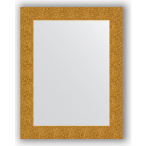Зеркало в багетной раме поворотное Evoform Definite 70x90 см, чеканка золотая 90 мм (BY 3182) зеркало с гравировкой evoform florentina 70x90 см by 5003