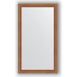 Зеркало в багетной раме поворотное Evoform Definite 65x115 см, бронзовые бусы на дереве 60 мм (BY 3203)