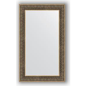 Зеркало в багетной раме поворотное Evoform Definite 73x123 см, вензель серебряный 101 мм (BY 3224) зеркало в багетной раме поворотное evoform definite 63x83 см вензель бронзовый 101 мм by 3063