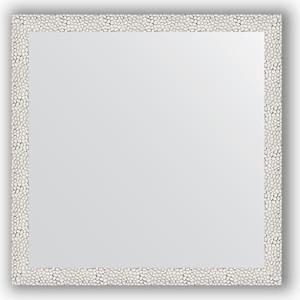 Зеркало в багетной раме Evoform Definite 71x71 см, чеканка белая 46 мм (BY 3226) зеркало в багетной раме поворотное evoform definite 71x151 см чеканка белая 46 мм by 3322