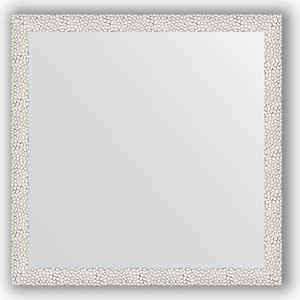 Зеркало в багетной раме Evoform Definite 71x71 см, чеканка белая 46 мм (BY 3226) зеркало в багетной раме evoform definite 71x71 см мозаика хром 46 мм by 3228
