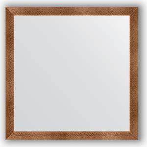 Зеркало в багетной раме Evoform Definite 71x71 см, мозаика медь 46 мм (BY 3227) зеркало в багетной раме поворотное evoform definite 71x151 см мозаика хром 46 мм by 3324