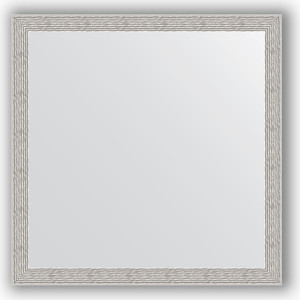 цены Зеркало в багетной раме Evoform Definite 71x71 см, волна алюминий 46 мм (BY 3230)