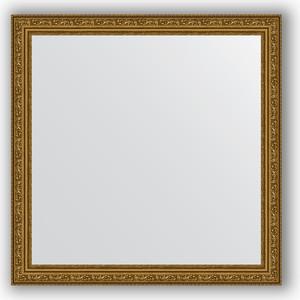 Зеркало в багетной раме Evoform Definite 74x74 см, виньетка состаренное золото 56 мм (BY 3231) зеркало в багетной раме evoform definite 50x140 см состаренное серебро 37 мм by 0713