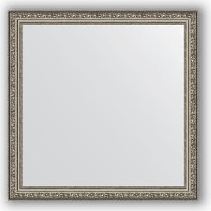 Зеркало в багетной раме Evoform Definite 74x74 см, виньетка состаренное серебро 56 мм (BY 3232) зеркало evoform by 3195