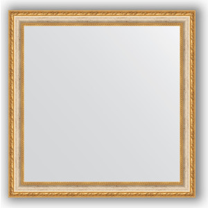 Зеркало в багетной раме Evoform Definite 75x75 см, версаль кракелюр 64 мм (BY 3237) evoform definite 55x145 см версаль серебро 64 мм by 3110