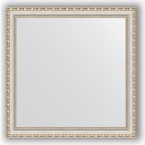 Зеркало в багетной раме Evoform Definite 75x75 см, версаль серебро 64 мм (BY 3238) evoform definite 55x145 см версаль серебро 64 мм by 3110
