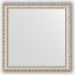 Зеркало в багетной раме Evoform Definite 75x75 см, версаль серебро 64 мм (BY 3238) зеркало в багетной раме evoform definite 75x75 см версаль кракелюр 64 мм by 3237