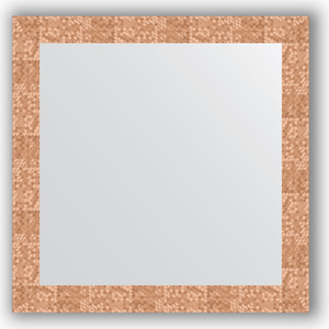 Зеркало в багетной раме Evoform Definite 76x76 см, соты медь 70 мм (BY 3242) зеркало в багетной раме evoform definite 76x76 см серебреный дождь 70 мм by 3240
