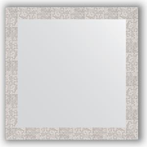 Зеркало в багетной раме Evoform Definite 76x76 см, соты алюминий 70 мм (BY 3243) зеркало в багетной раме evoform definite 76x76 см серебреный дождь 70 мм by 3240