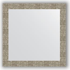 Зеркало в багетной раме Evoform Definite 76x76 см, соты титан 70 мм (BY 3244) зеркало в багетной раме evoform definite 76x76 см серебреный дождь 70 мм by 3240
