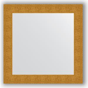 Зеркало в багетной раме Evoform Definite 80x80 см, чеканка золотая 90 мм (BY 3246) зеркало в багетной раме поворотное evoform definite 70x90 см чеканка золотая 90 мм by 3182