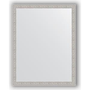 Зеркало в багетной раме поворотное Evoform Definite 71x91 см, волна алюминий 46 мм (BY 3262) зеркало в багетной раме поворотное evoform definite 71x151 см мозаика хром 46 мм by 3324