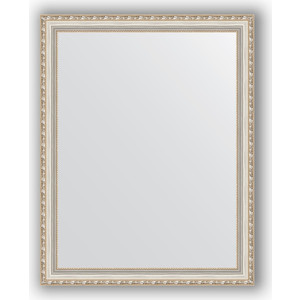 Зеркало в багетной раме поворотное Evoform Definite 75x95 см, версаль серебро 64 мм (BY 3270) цены