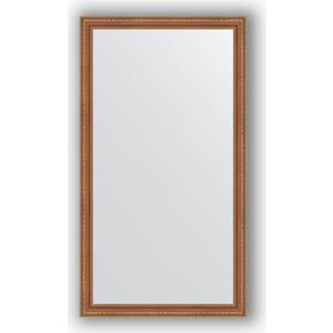 Зеркало в багетной раме поворотное Evoform Definite 75x135 см, бронзовые бусы на дереве 60 мм (BY 3299)