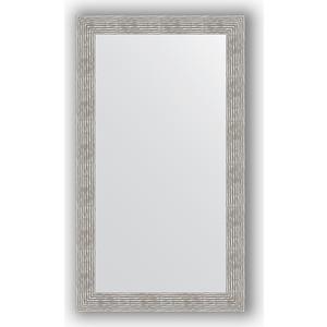 Зеркало в багетной раме поворотное Evoform Definite 80x140 см, волна хром 90 мм (BY 3313) зеркало в багетной раме поворотное evoform definite 71x151 см мозаика хром 46 мм by 3324