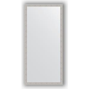 Зеркало в багетной раме поворотное Evoform Definite 71x151 см, волна алюминий 46 мм (BY 3326) зеркало в багетной раме поворотное evoform definite 71x151 см чеканка белая 46 мм by 3322