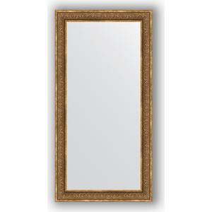 Зеркало в багетной раме поворотное Evoform Definite 83x163 см, вензель бронзовый 101 мм (BY 3351)