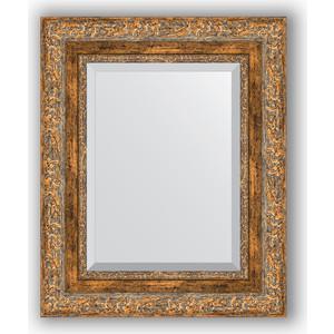 цена на Зеркало с фацетом в багетной раме Evoform Exclusive 45x55 см, виньетка античная бронза 85 мм (BY 3358)