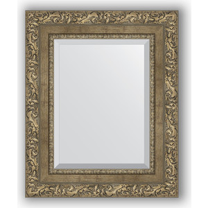 Зеркало с фацетом в багетной раме Evoform Exclusive 45x55 см, виньетка античная латунь 85 мм (BY 3359) зеркало с фацетом в багетной раме evoform exclusive 75x165 см виньетка античная латунь 85 мм by 3593