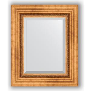 Зеркало с фацетом в багетной раме Evoform Exclusive 46x56 см, римское золото 88 мм (BY 3360) evoform exclusive by 1161