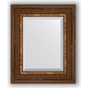 Зеркало с фацетом в багетной раме Evoform Exclusive 46x56 см, римская бронза 88 мм (BY 3361)