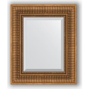 Зеркало с фацетом в багетной раме Evoform Exclusive 47x57 см, бронзовый акведук 93 мм (BY 3362)