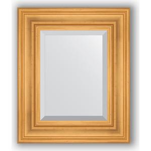 Зеркало с фацетом в багетной раме Evoform Exclusive 49x59 см, травленое золото 99 мм (BY 3366) evoform exclusive by 1161