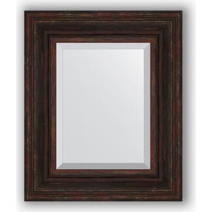 Зеркало с фацетом в багетной раме Evoform Exclusive 49x59 см, темный прованс 99 мм (BY 3369) evoform exclusive 69x99 см темный прованс 99 мм by 3447