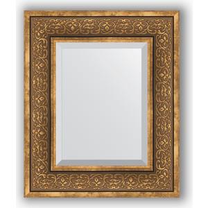 Зеркало с фацетом в багетной раме Evoform Exclusive 49x59 см, вензель бронзовый 101 мм (BY 3370)