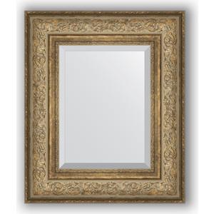 Зеркало с фацетом в багетной раме Evoform Exclusive 50x60 см, виньетка античная бронза 109 мм (BY 3373)
