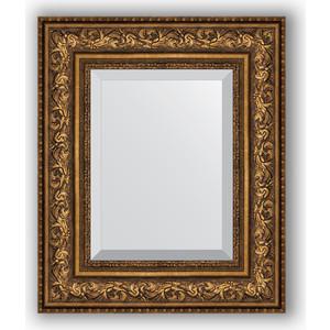 Зеркало с фацетом в багетной раме Evoform Exclusive 50x60 см, виньетка состаренная бронза 109 мм (BY 3375) cisa12011 60 50 в москве