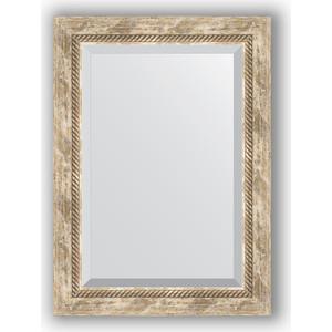 Зеркало с фацетом в багетной раме поворотное Evoform Exclusive 53x73 см, прованс с плетением 70 мм (BY 3381) зеркало с фацетом в багетной раме поворотное evoform exclusive 53x83 см прованс с плетением 70 мм by 3407