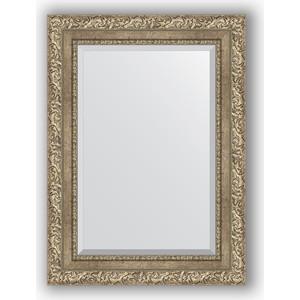 Зеркало с фацетом в багетной раме поворотное Evoform Exclusive 55x75 см, виньетка античное серебро 85 мм (BY 3383) зеркало с фацетом в багетной раме поворотное evoform exclusive 60x145 см виньетка античное серебро 85 мм by 3539